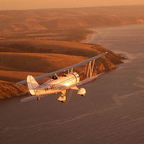 Darenberg Waco Flying Towards Carrickalinga